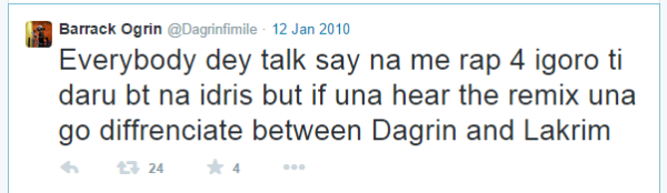 Great tweets by Dagrin