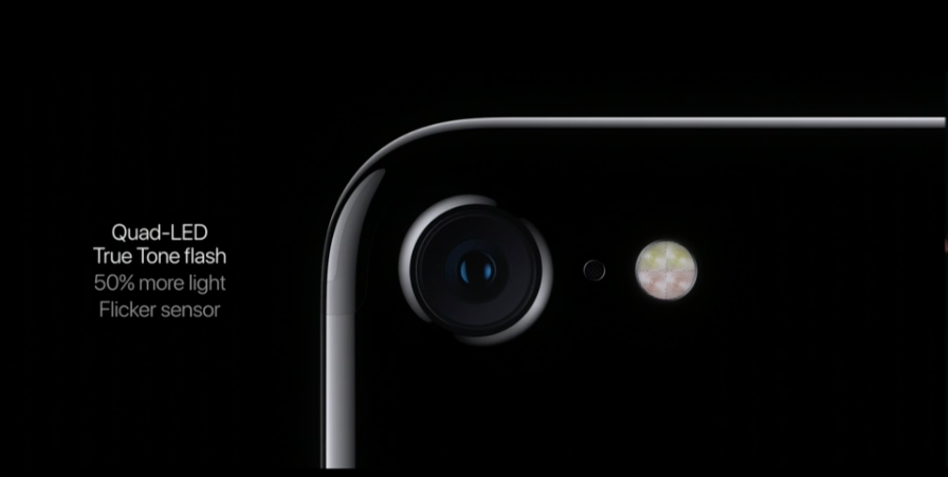 The iPhone 7's rear camera.