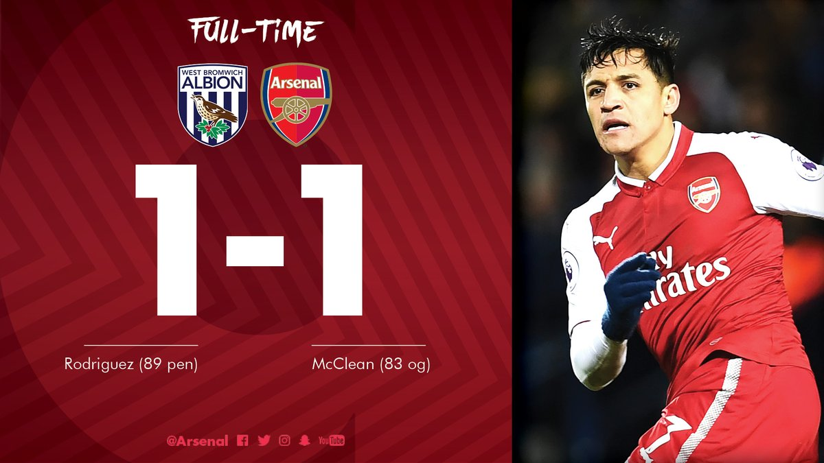 West Brom vs Arsenal 1 - 1 – Highlights Goals