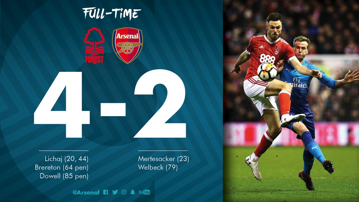 Nottingham Forest vs Arsenal 4 2 Highlights