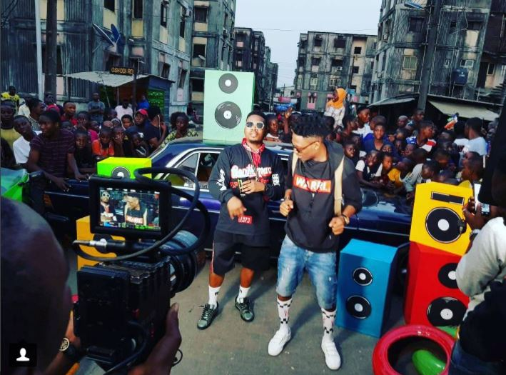 Efe And Olamide Shoot Music Video For Warri