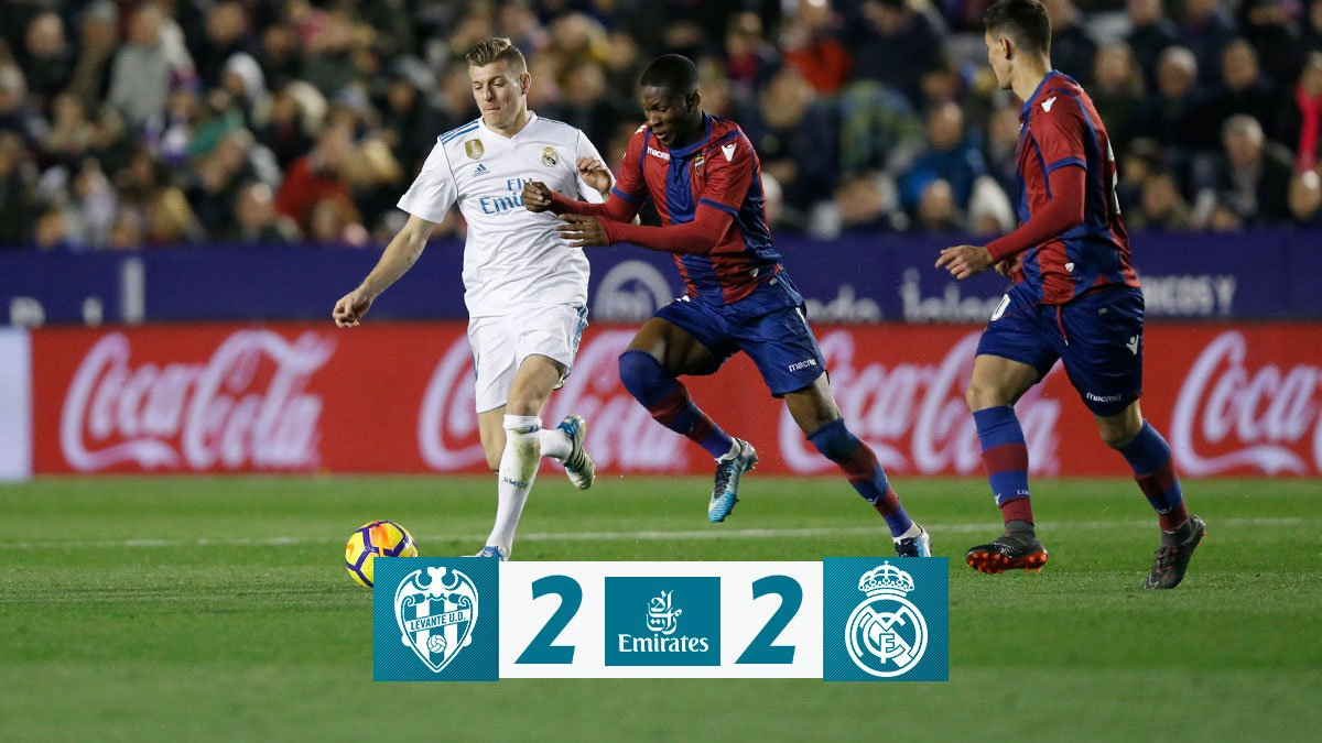 Levante vs Real Madrid 2-2 Highlight Download