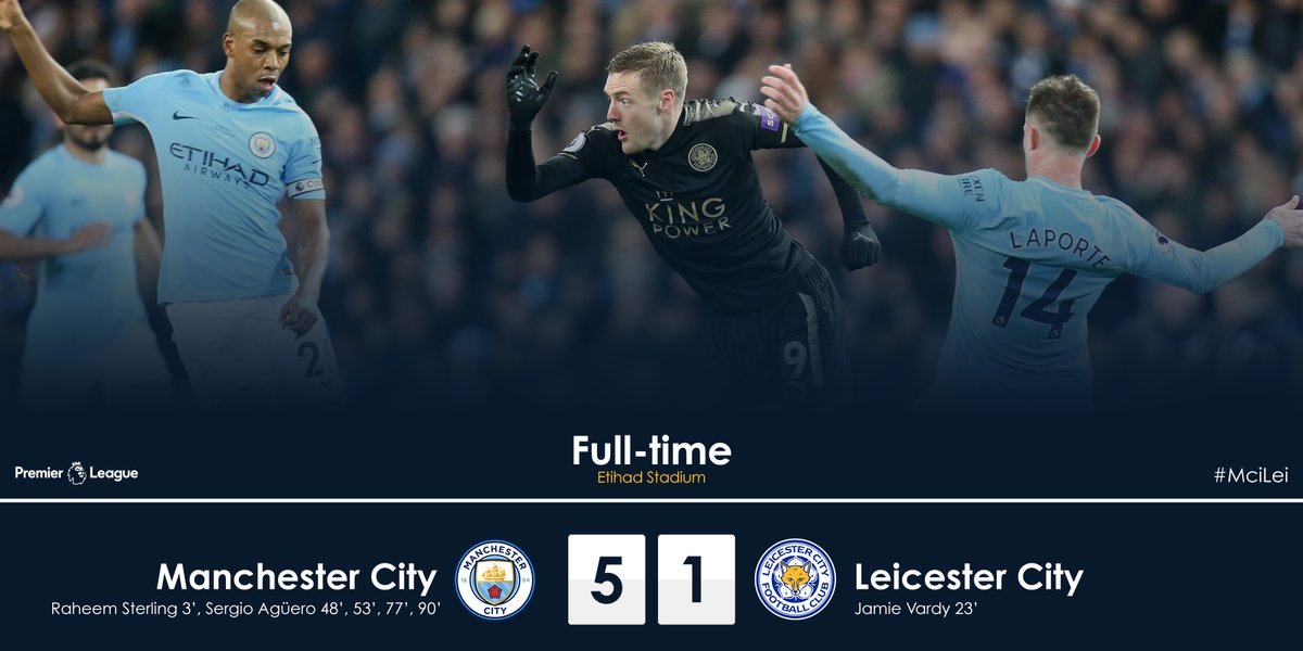 Manchester City vs Leicester City 5-1 Highlight Download