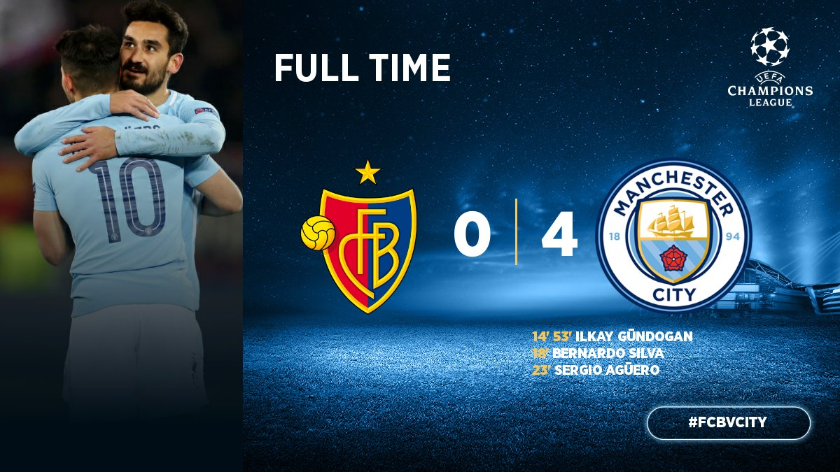 Basel vs Manchester City 0-4 Highlight Download