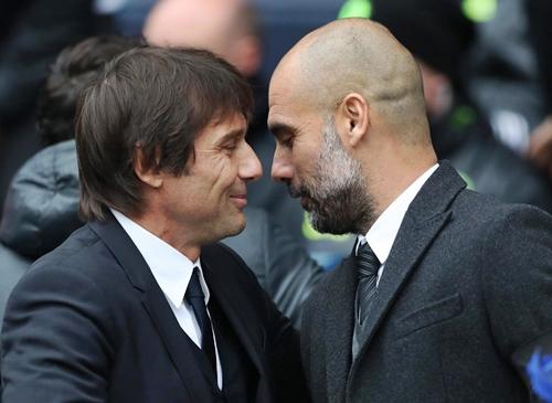Antonio Conte and Pep Guardiola