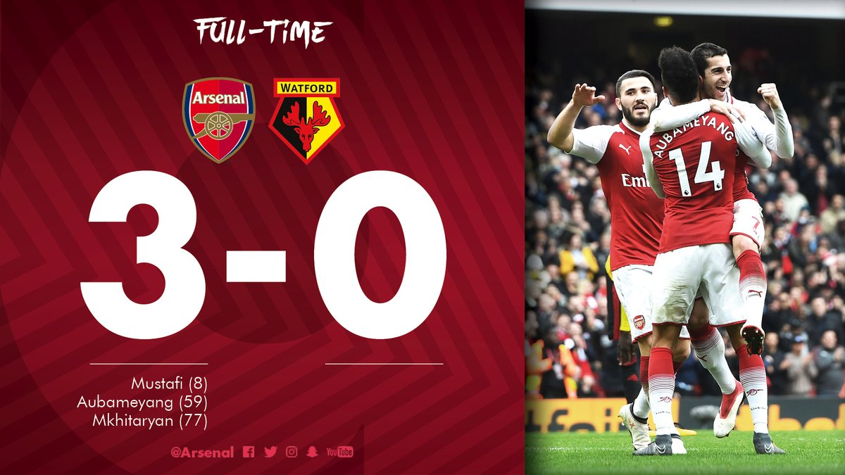 Arsenal vs Watford 3-0 Highlight Download