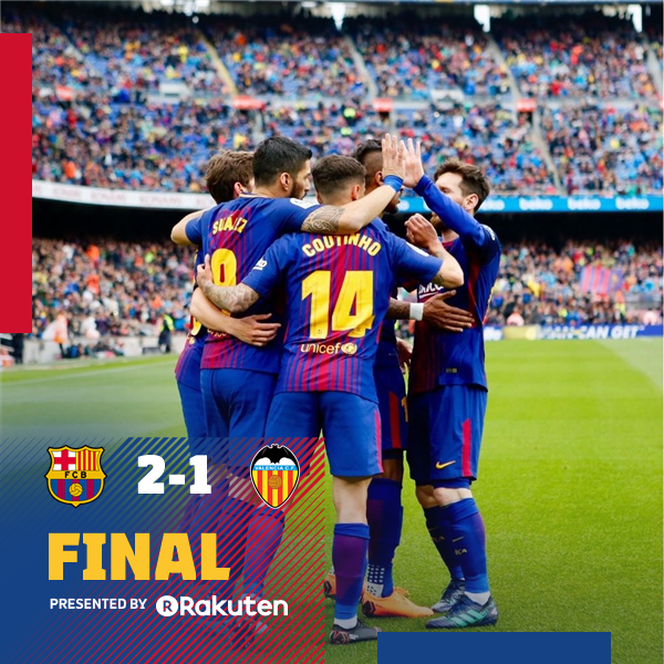 Barcelona vs Valencia 2-1 Highlight Download