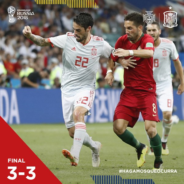 Portugal vs Spain 3-3 Highlight Download