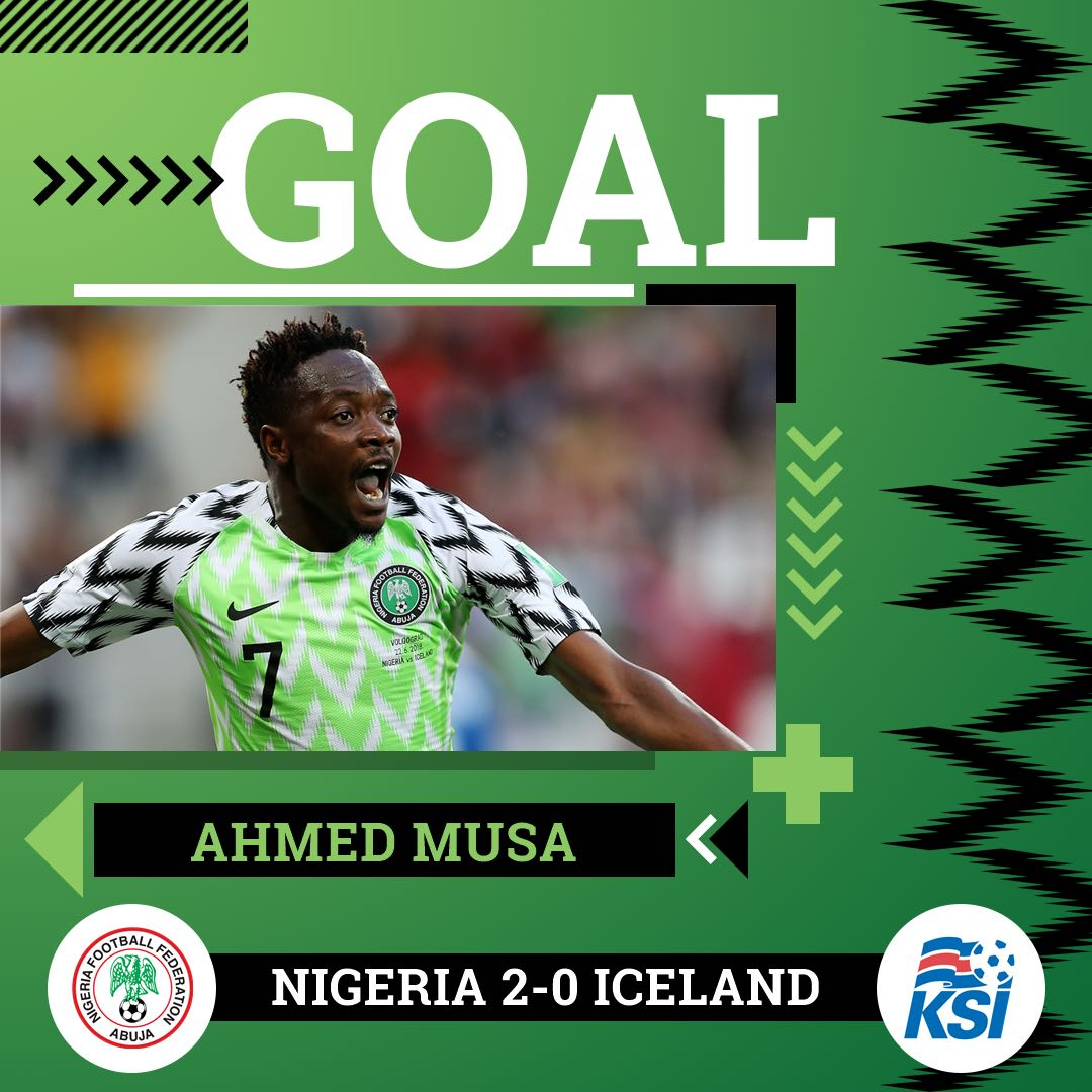 Nigeria vs Iceland 2-0 Highlight Download