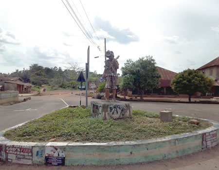 The town's roundabout