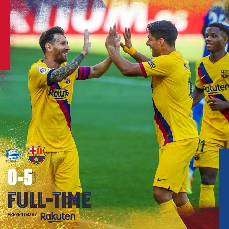 Alaves vs Barcelona 0 - 5 – Highlights